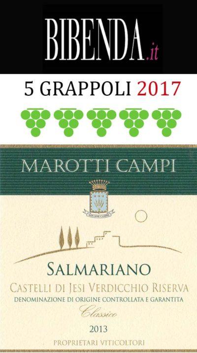 salmariano 2013 verdicchio 5 grappoli bibenda 2017