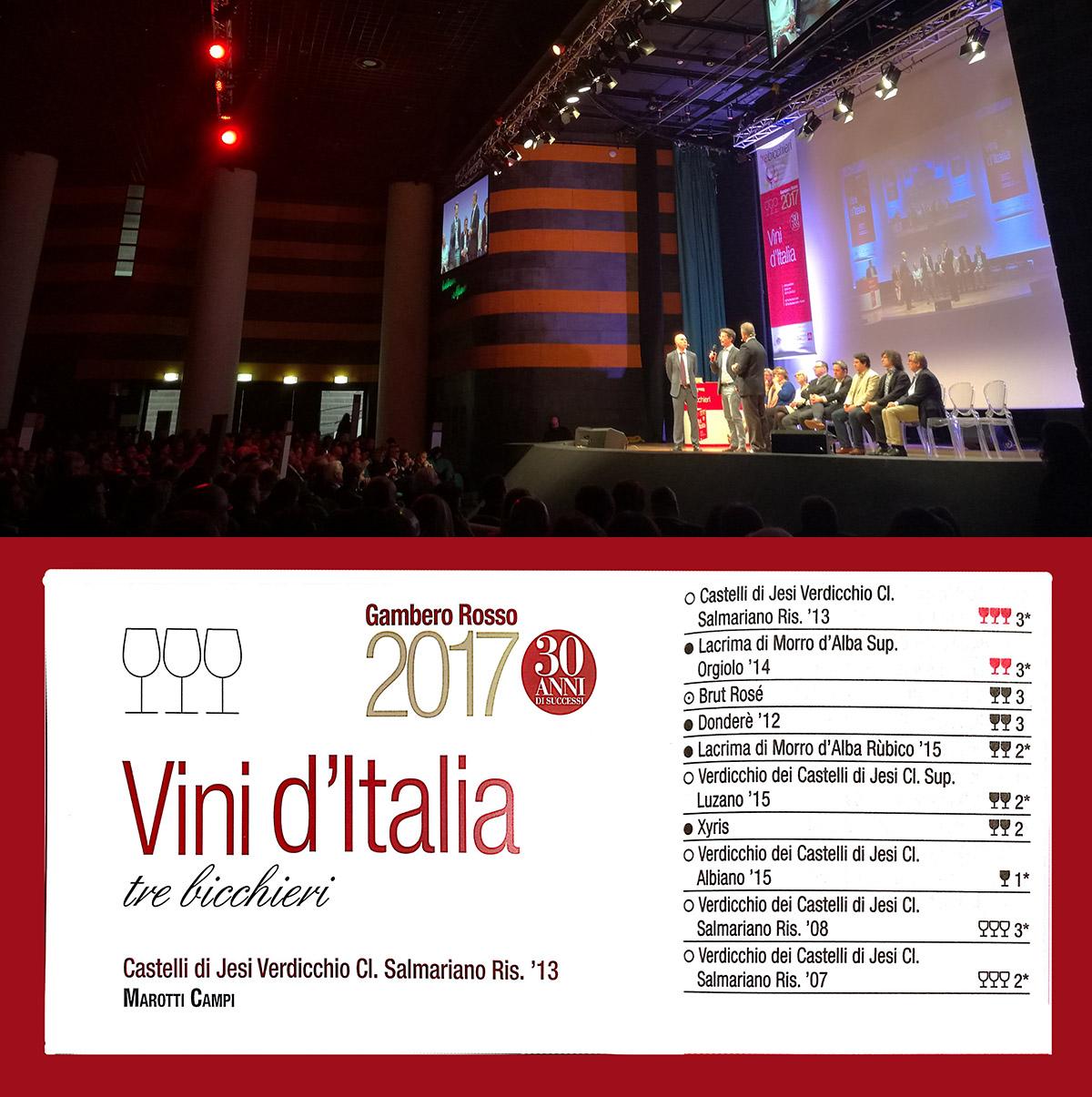 Vini d'Italia 2017 Marotti Campi Verdicchio e Lacrima di Morro d'Alba DOC