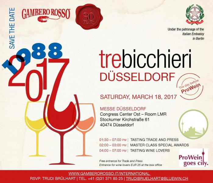 Tre Bicchieri Dusseldorf Marotti Campi Verdicchio e Lacrima
