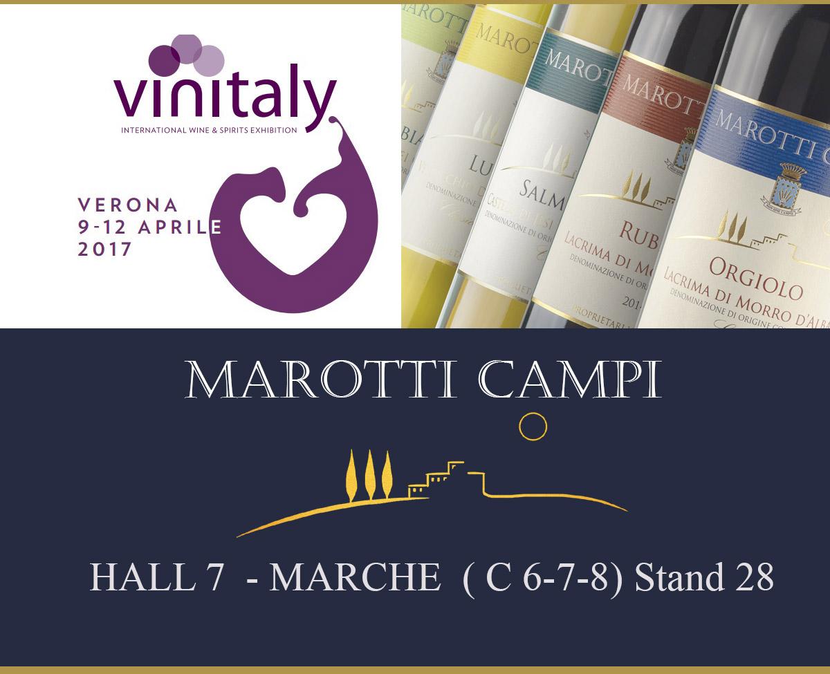 Marotti Campi Vinitaly 2017 Verdicchio e Lacrima