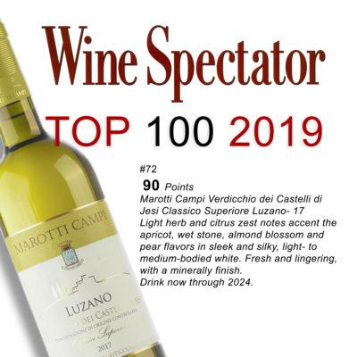 TOP-100-WINE-SPECTATOR 2019 marotti campi verdicchio luzano