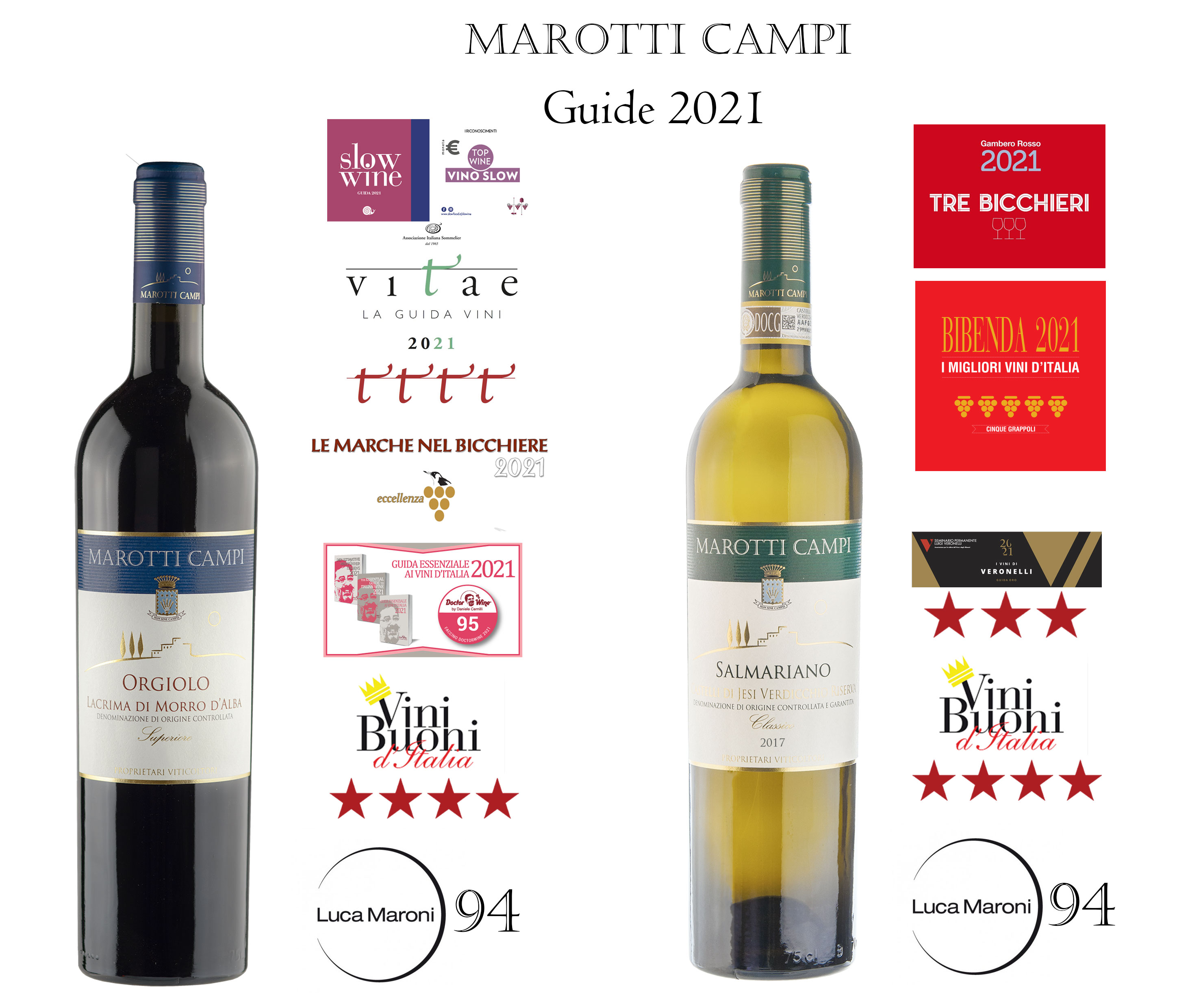 top awards 2021 Marotti Campi wine