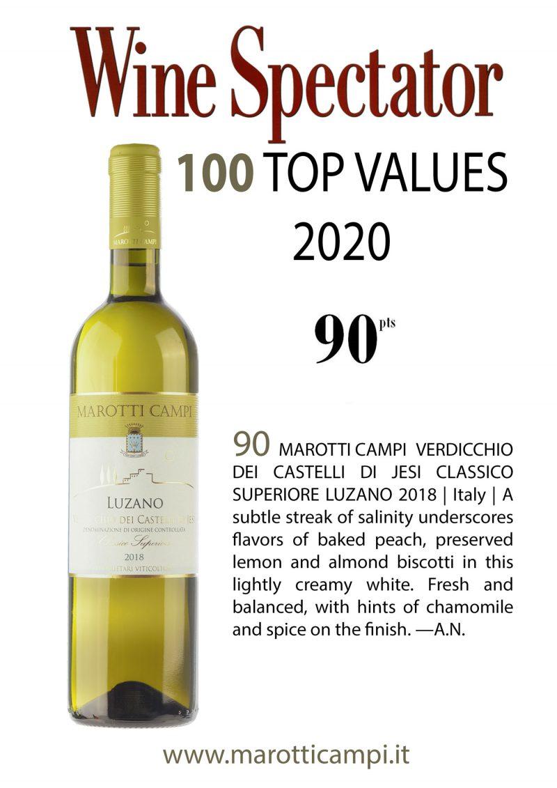Wine Spectator TOP 100 2020 Marotti Campi Verdicchio dei Castelli di Jesi Classico DOC Superiore Luzano